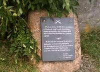 Der Gedenkstein in Krajowa, gestiftet von der Familie von Schweinitz